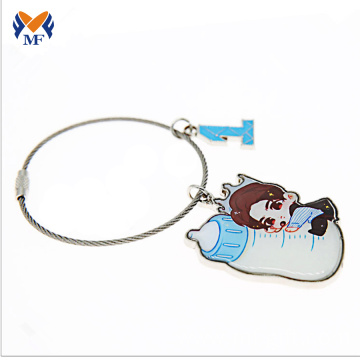Metal wire name printing keychain