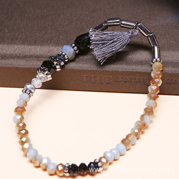 Women Jewelry Beaded Tassel Stretch Bracelet DIY Bead Bangle