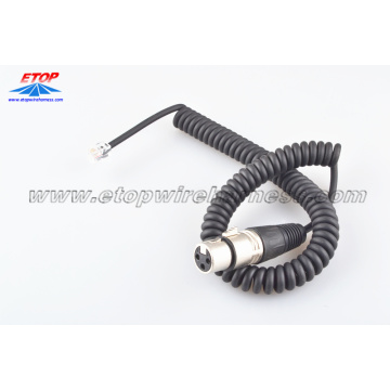 High Quality Industrial Factory for China Custom Molded Wire Assembly,Overmolded Connectors For Harness Manufacturer Molded 3pin microphone plug cable export to Netherlands Suppliers