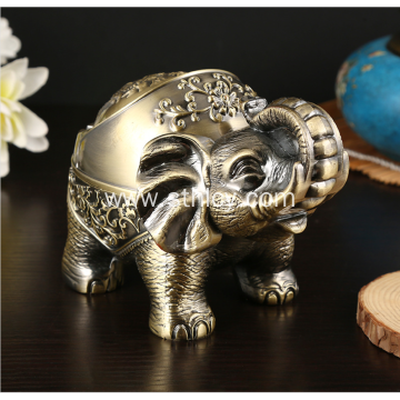 Nordic metal elephant ashtray