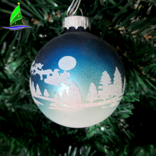 Stock hanging Home Decorations Glass Blue Christmas Ball
