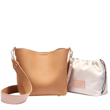 Women's Leather Designer Handbags Tote Shoulder Bucket Bags