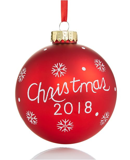 2018 Christmas Glass Ball