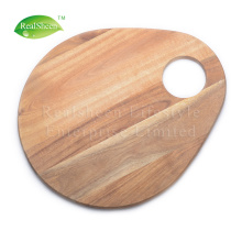 Oval Lovely Acacia Wood Cutting Board With Handle
