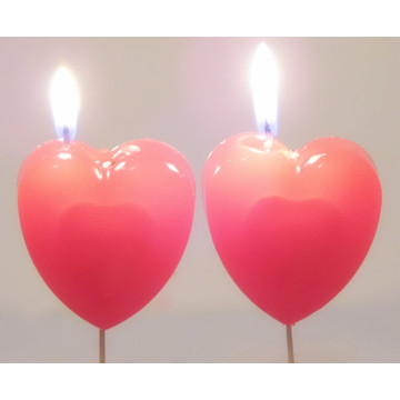 heart-shaped bold of birthday candles