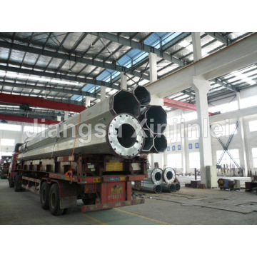 High reputation for for High Voltage Transmission Line 220kV Steel Tubular Power Poles export to Christmas Island Factories