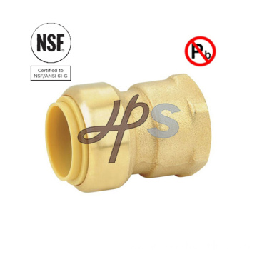 NSF Brass Lead Free Push Fit Straight Union Fitting