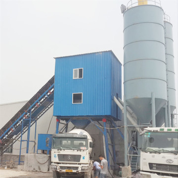 Simple modular stationary HZS90 concrete mixing plant