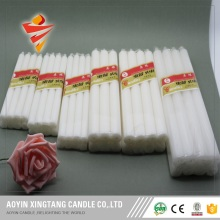 Votive long burning white wax candles