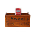 Over the wall Pine Wood Drawer Organizer box with Dividers