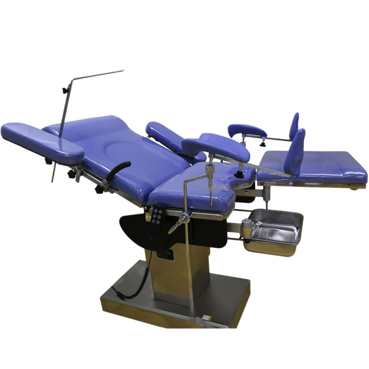 Gynecological examining table