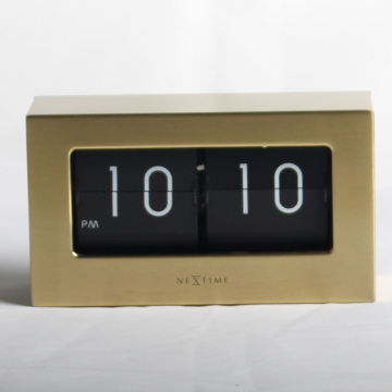 Retro Metal Medium Flip Clocks Golden