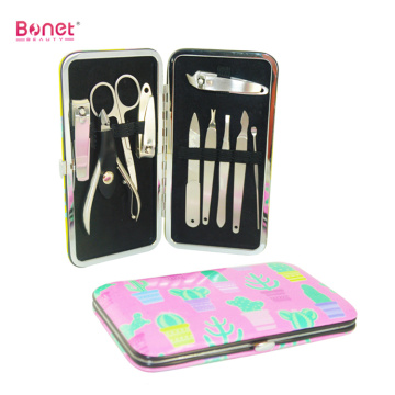 Stainless Steel Colourful Printing exclusive Manicure Set