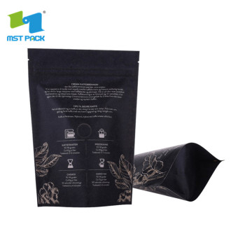 digital printed biodegradable plastic stand-up pouches bag with zipper