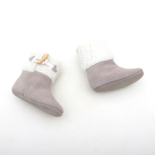 Grey And White Winter Warm Booties