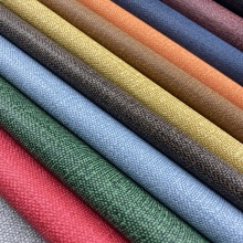 Vegan Textile Linen PU Leather for Office Goods