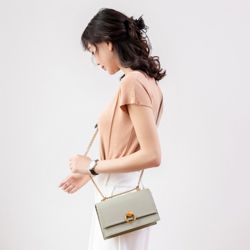 Clutch Messenger Sling Bag with Metal Ring Lock