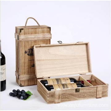 Gift Wooden wine bottle box