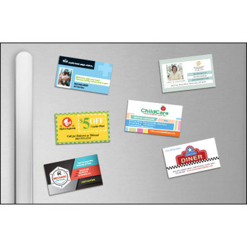 Custom full color print  magnet business card