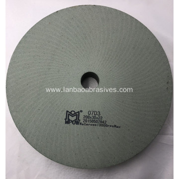 Green BD polishing wheel in glass machine