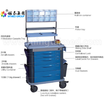 Anesthetic vehicles cart trolley