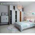 Modern Furniture Melamine Kid's Bedroom With Pink Cushion