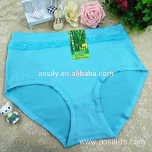 AS-406B women panties lace-trim panty very very soft qmilch simple briefs