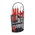 stainless steel bbq tools set with red handle