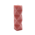 Unscented colorful pillar candles