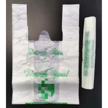 100% Biodegradable PLA Non-toxic Plastic T Shopping bag