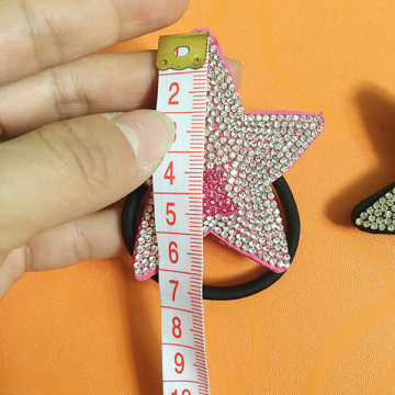 Multicolor Rhinestone Leather Star Smile Starfish Hair Ornaments