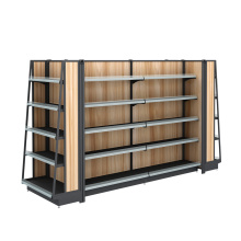 Top Quality Steel Wooden Supermarket Shelf