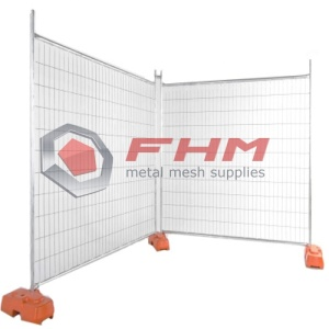 Movable Fence of Welded Wire for Construction