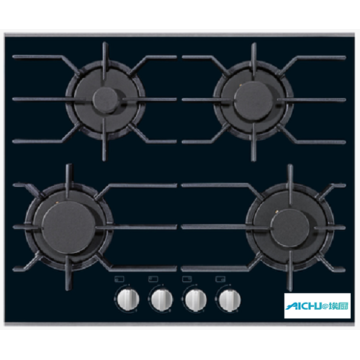 Black Gas Cooktop With 4 Burners