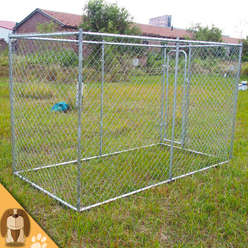 Galvanized Outdoor Large Chain Link Dog Kennel