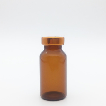 8ml Amber Sterile Serum Vials Orange Cap