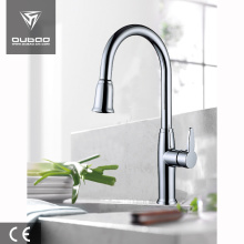 Deck Mounted Flexible Kitchen Faucet with Spray Head