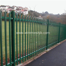 2.2m High Powder Coated Steel Palisade Fencing