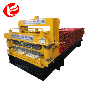 Full-automatic aluminium double layer roll forming machine