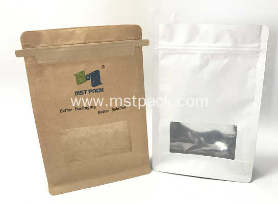 Kraft Paper Bag With Square Window For Candy