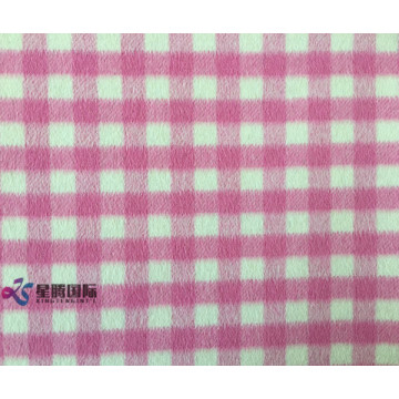 Small Pink White Plaid 100% Wool Fabric