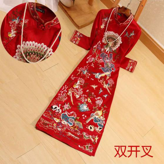 Hand Embroidery Cheongsam Dress
