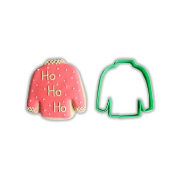 Plastic Ugly Christmas Sweater Shape Cookie Cutter