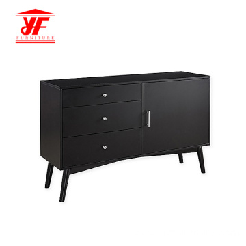 Black Classic Farnichar TV Unit Cabinet Design