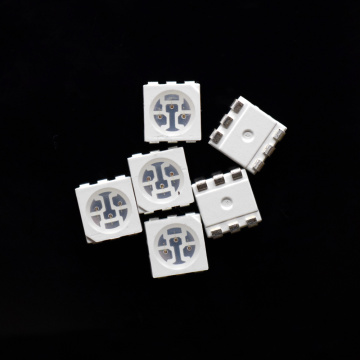 5050 SMD LED 595nm Amber/Yellow LED 3-chips