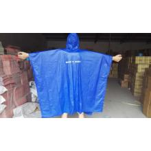 Customized Supplier for for PVC Poncho Raincoat reusable pvc rain poncho with logo supply to India Factory