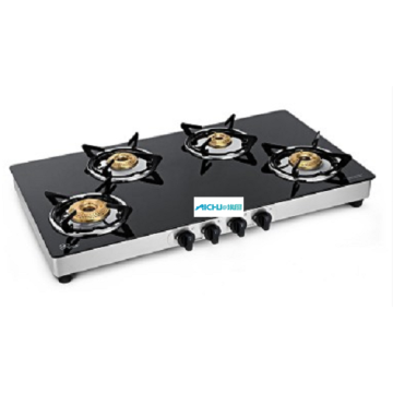 Crystal Nova 4 Burner Toughened Glass Cooktop