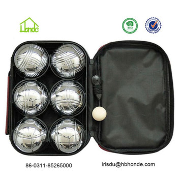 6 Metal Boules with Nylon Carrying Bag