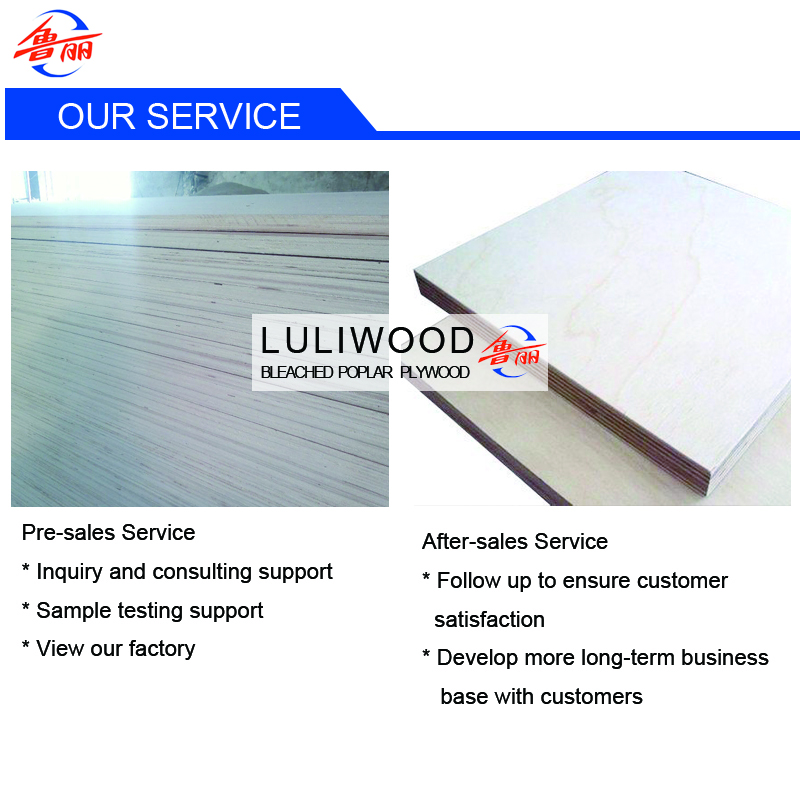 bleached poplar commercial plywood service