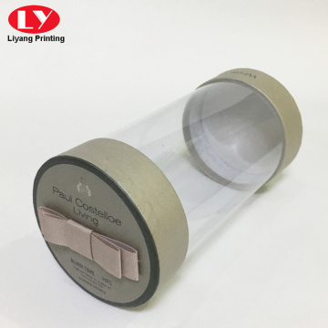 PVC plastic tube round box with paper lid